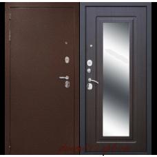 Входная дверь дверной континент Гарант-1 зеркало (венге)