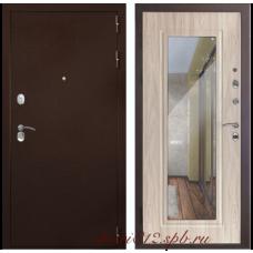 Входная дверь Дверной Континент Гарант-1 зеркало сандал белый