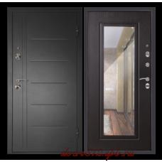 Входная дверь  дверной континент Сити зеркало 3к венге