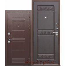 Входная металлическая дверь 10 см Троя Антик Венге