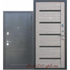 Дверь входная Цитадель 10 см троя серебро Дымчатый дуб