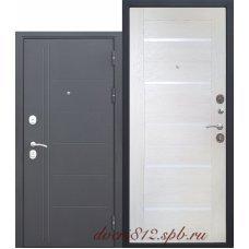 Дверь входная Цитадель 10 см троя серебро Лиственница беж