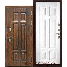 Дверь c ТЕРМОРАЗРЫВОМ 13 см МДФ/МДФ Сосна белая