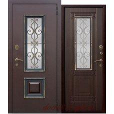 Металлическая дверь с ковкой Венеция 8см Венге