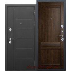 Входная металлическая дверь 10 см Троя муар Орех сиена Царга