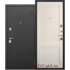 Входная металлическая дверь 10 см Троя муар Эш вайт Царга