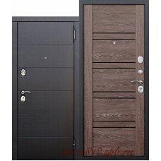 Входная металлическая дверь 10,5 см Чикаго Царга дуб шале корица