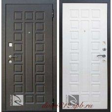 Входная металлическая дверь Райтвер Сенатор Лайф беленый дуб