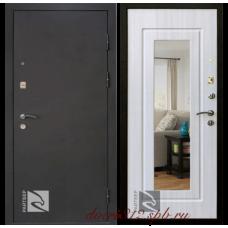 Входная дверь Райтвер Престиж лайф зеркало беленый дуб