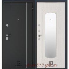 Входная дверь  VolDoor (Волдор) Модерн Зеркало Дуб беленый