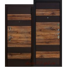 Входная дверь 9,5 Оксфорд  Венге/Дуб бомонд лофт