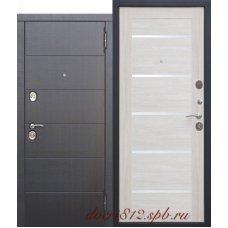 Входная металлическая дверь 10,5 см Чикаго Царга Лиственница беж