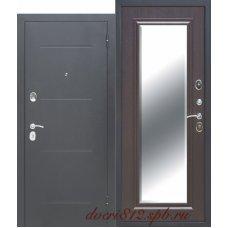 Входная дверь 7,5 см Гарда  Серебро Зеркало Фацет венге
