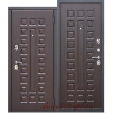 Входная металлическая дверь 10 см Монарх МДФ/МДФ Венге
