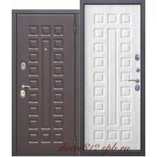 Входная дверь 10 см Монарх МДФ/МДФ Белый Ясень