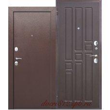 Входная дверь Гарда 2 замка Венге. Внутреннее открывание.