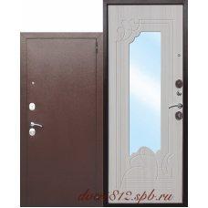 Металлическая дверь Цитадель Ампир белый ясень
