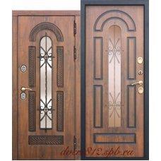 Дверь с терморазрывом и стеклопакетом Витра 13 см