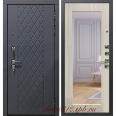 Серая входная дверь Garga S18 с зеркалом сандал