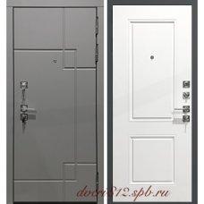 Серая дверь с белой внутренней панелью Гарда С19