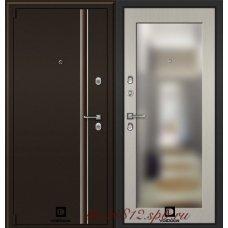 Дверь с терморазрывом Инфинити 3D зеркало Лиственница