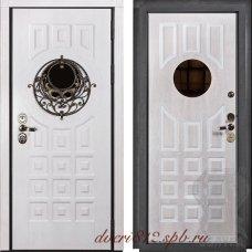 Стальная белая дверь Альмерия