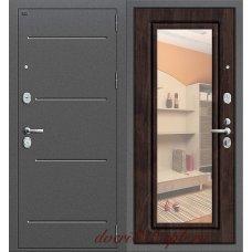 Дверь Groff Р2-216 Антик Серебро/Темная Вишня